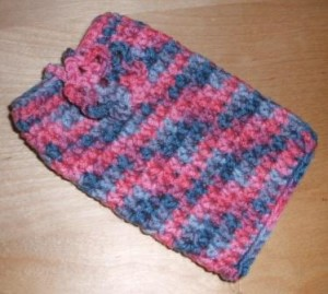 crocheted gadget case