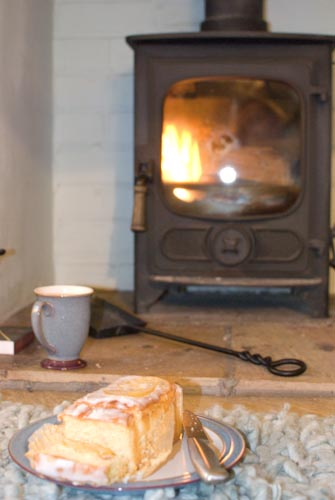 tea, cake and fire