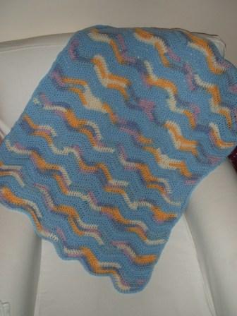 Baby blanket open