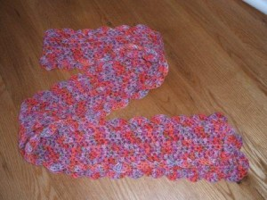 Blood orange scarf