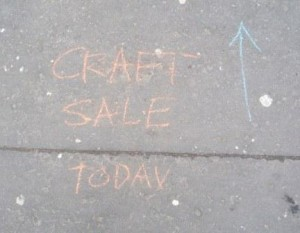 Craft sale today chalked