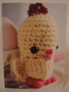 Cute crochet card chick