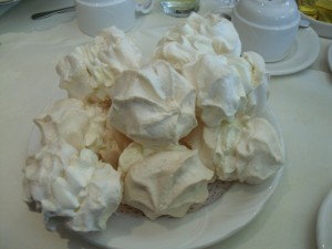 A plateful of meringues