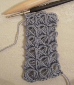 Broomstick crochet 6 rows