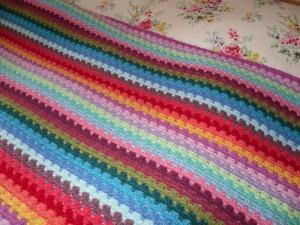 Granny stripe blanket 200910