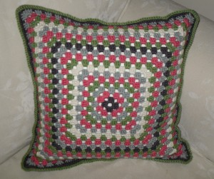 Granny Square Cushion Done