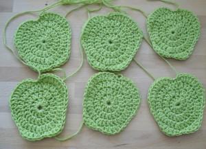 6 green apples