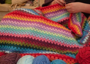 Restarting the Granny Stripe Blanket
