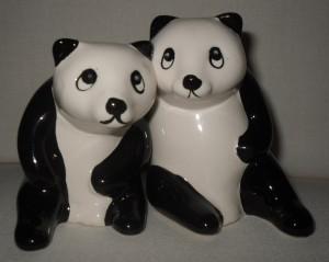 Hugging pandas