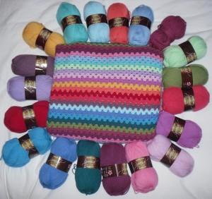 New yarn for Granny Stripe Blanket