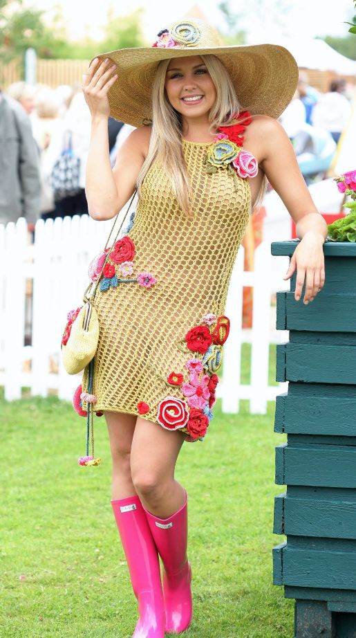 Jessica Howard Women's Plus Size White Crochet Neck Dress
