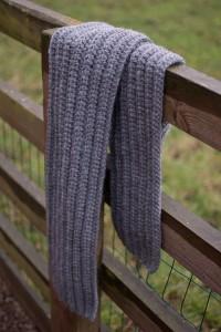 Grey chunky scarf